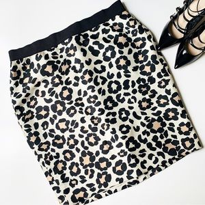 ANN TAYLOR Animal Print Skirt 🖤